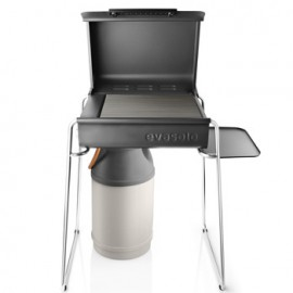 Gas barbecue poten & side table