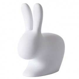 Qeeboo Rabbit Chair Light Grey Large